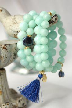 Mint Green Gemstone Stretch Bracelet Mint Green by LaliJewelryShop
