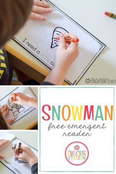 Teaching little learners to read can be easily done with simple emergent readers. This printable book has repetitive text to help your reader succeed. Help Teaching, Creative Teaching, Winter Activities For Kids, Kindergarten Activities, Free Activities, Preschool Ideas, Free Education, Emergent Readers, Classroom Language