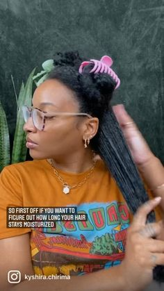 Natural Hair Care Tips, Curly Hair Tips, Curly Hair Styles, Hair Twist Styles, Natural Hair Styles, Natural Hair Journey, Hair Facts, Natural Hair Transitioning, Black Hair Care