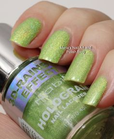 Nabi 3D Rainbow Efect Hologram swatches: Green