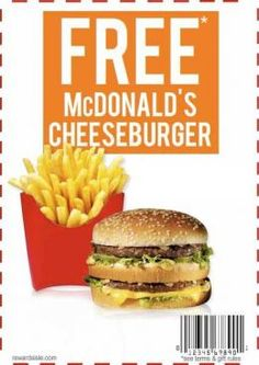 Get free McDonald's Gift Card code and buy anything for free on McDonald's. Free Mcdonalds Coupons, Free Food Coupons, Kfc Coupons, Free Coupons By Mail, Free Printable Coupons, Online Coupons, Print Coupons, Discount Coupons, Restaurant Deals