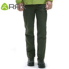 836ec8ca46e Rax Men Waterproof Hiking Pants Windproof Outdoor Sports Warm Soft Shell  Hiking Camping Winter Pants Men