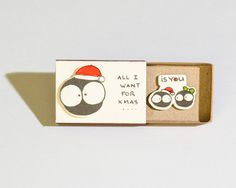 Cute Love Christmas Card/ Holiday Greeting Card/ New by shop3xu