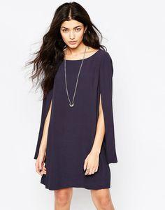 Image 1 ofFree People Kristal Cape Sleeve Dress