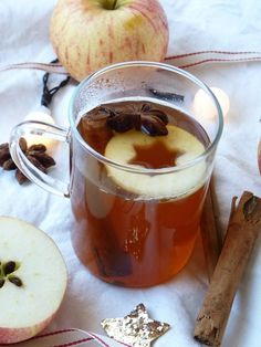 Hot cider with spices, we wait for Santa Claus on a firm footing with the Bataillefood # 18 - Another lichette- Chutney, Christmas Drinks, Sweet Recipes, Food Porn, Brunch, Spices, Food And Drink, Thanksgiving, Yummy Food