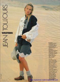Estelle Lefebure by Marc Hispard - Elle France February 1988