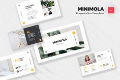 Minimola - Minimalist Powerpoint Template PowerPoint Template Creative Presentation Ideas, Creative Powerpoint, Minimalist, Concept, Templates, Stencils, Vorlage, Minimalism, Models