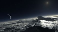 """""""ESO-L. Calçada - Pluto (by)"""" by ESO/L. Calçada - Pluto (Artist's Impression). Licensed under Creative Commons Attribution 4.0 via Wikimedia Commons - http://commons.wikimedia.org/wiki/File:ESO-L._Cal%C3%A7ada_-_Pluto_(by).jpg#mediaviewer/File:ESO-L._Cal%C3%A7ada_-_Pluto_(by).jpg"""
