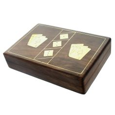 Card and Dice Box £12.95 #games #home #wooden #box