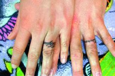 Wedding Ring Tattoos For Couples | Ring tattoos are the new…)