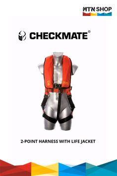 Checkmate Two Point Harness with Life Jacket Lifting Safety, Emergency Supplies, Serious Injury, Safety Tips, Water Sports, Full Body, Wetsuit, Shop Now, Fall