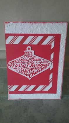 Christmas card done with the cricut and embossing powder
