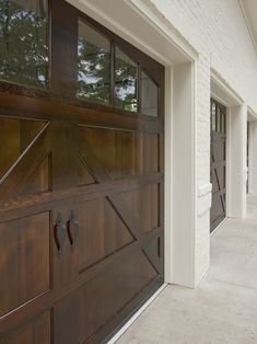 barn door garage doors-- looks better then the metal ones!