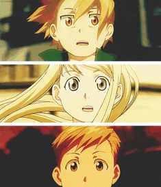 Fullmetal Alchemist Brothethood | Edward, Alphonse and Winry I'm in love with this gif