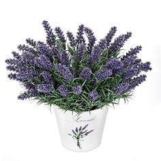 Plantas artificiales con flores planta artificial diente - Lavanda cuidados maceta ...