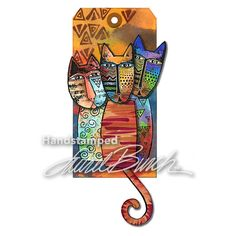 Stampendous TRIBAL CATS DIE CUT SET Laurel Burch lbdcs06 zoom image
