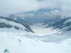 Aletsch Glacier from Top Of Europe. 2007.