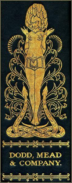 Harry Clarke, spine illustration for The Selected Poems of Swinburne (1928)