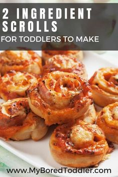 2 Ingredient Scroll recipe for Toddlers to Make - My Bored Toddler Easy Meals For Kids, Healthy Eating For Kids, Toddler Meals, Kids Meals, Toddler Recipes, Toddler Activities, Beef Recipes, Healthy Recipes, Ramen Recipes