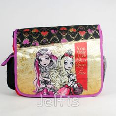 Ever After High Large Messenger Bag - Gold Princess Girls School Carrying Sash in Clothing, Shoes & Accessories, Dolls & Bears | eBay