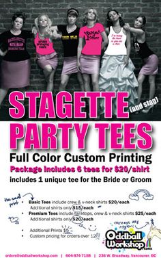 Stagette (& Stag) Party Tees from Oddball Workshop