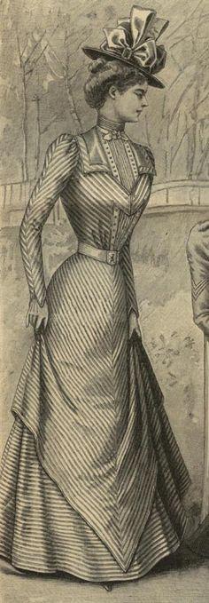 Scroll down. Mode Illustree Pattern March 19 1899 Dress W Fringes | eBay - This would make a fabulous seaside dress.