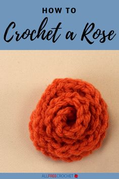 🌹 This crochet rose video will show you how easy it is to work up a simple rosebud. Crochet Flower Tutorial, Crochet Flower Patterns, Crochet Flowers, All Free Crochet, Learn To Crochet, Rose Video, Crochet Appliques, Bunch Of Flowers