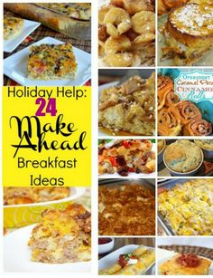 24 Make Ahead Breakfast Recipes