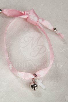 Witness bracelets pink satin ribbon