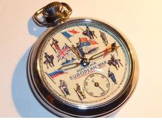 Old Ingersoll European War Souvenir Pocket Watch by martonmere - watches, rosefield, cheap, marc jacobs, black, expensive watch *ad