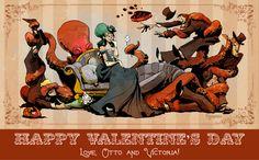 Otto & Victoria | Happy Valentine's Day | Brian Kesinger