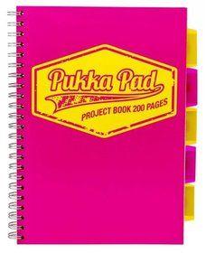 Pukka Pads, kołozeszyt w kratkę, format B5, Neon