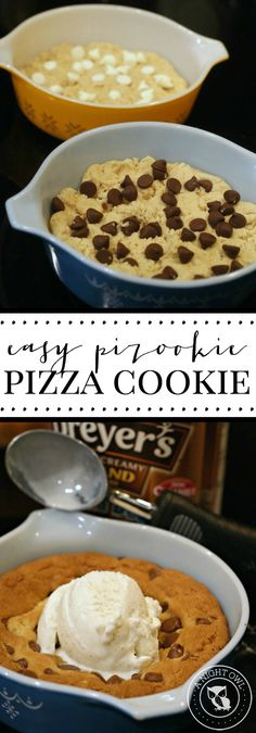 Easy Pizookie Pizza Cookie - how to make your own BJ's or Oregano's Pizookie (Pizza Cookie) from the comfort of home!