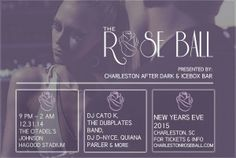 3rd Annual New Year's Eve Rose Ball in Charleston