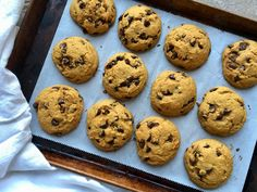 FYI, these are cakey-soft-glorious pumpkin cookies, so if you're looking for chewy-crispy type cookies, look elsewhere. Ingredients: 1 1/4 cups canned pumpkin 1/2 cup melted coconut oil 1/2 cup pac…