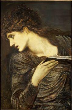 Edward Burne-Jones, Head of Nimue - Pre Raphaelite Art