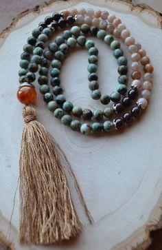 108 Bead Mala Japa Abundance New Beginnings by GratefulHeartBazaar