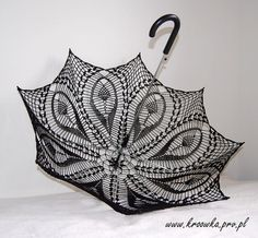 BLACK TULIP parasol  victorian lace umbrella goth lady by kroowka, $75.00