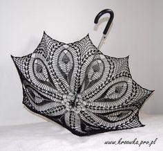 BLACK TULIP parasol  victorian lace umbrella goth lady by kroowka, $75.00