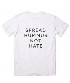 Spread Hummus Not Hate Vegetarian Vegan Plant Food Avo Womens Vest Tank Top