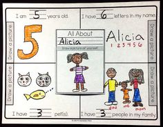 Primary All About Me Math Activity
