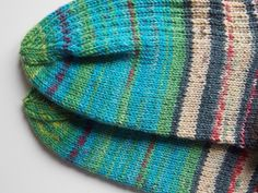 Art for your feet turquoise emerald socks size 5 (EU-size 38) handknit selfstriping sockyarn dyed in colours of paintings from Hundertwasser by PurpleValleyDesign on Etsy