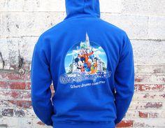 Vintage Walt Disney World Hoodie Sweatshirt Adult Medium Zip Up Where Dreams Come True Mickey Mouse by MODernThrowback on Etsy