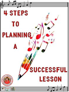 Four important steps to plan successful lessons! To create a successful lesson there are four basic questions you need to answer.  FREE download included!!  ♫ CLICK through to read more or save for later!  ♫