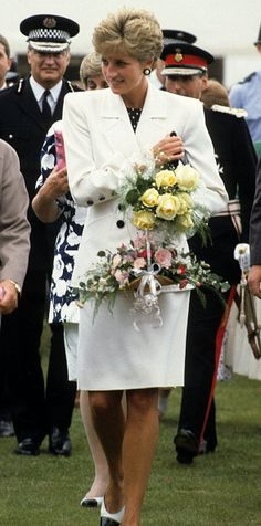 Princess Diana at the Federation Cup tennis ceremonies, July 1991 in Nottingham, Great Britain.