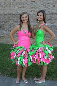 Get these girls a ticket to the Duct Tape Ball! Best dressed for sure!