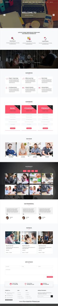 Iconic is a clean and modern design responsive #bootstrap HTML #template for #corporate business website to download & live preview click on image or Visit  #webdesign