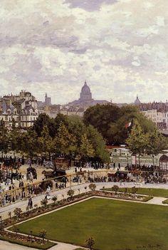 Клод Моне - Garden of the Princess, 1867. Клод Оскар Моне