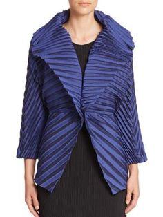 Issey Miyake Convertible Pleated Jacket | Coat, Jacket and Clothing
