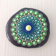 Big Dot Art Mandala Painted Stone Fairy Garden by CreateAndCherish